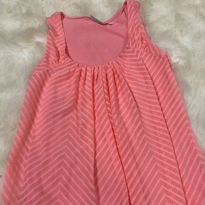 NEW YORK AND COMPANY women's pink textured top- m